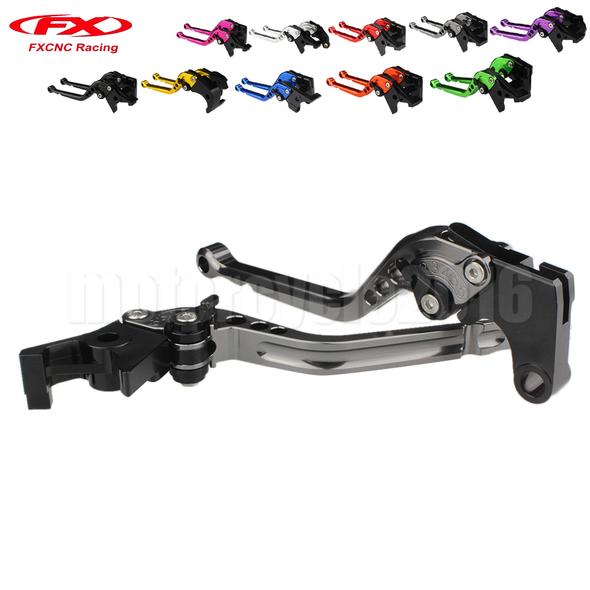 FXCNC Aluminum Adjustable Motorcycle Brake Clutch Lever For Yamaha XJ6 DIVERSION 2009-2015 10 11 12 13 FZ6 FAZER 2004-2010 05 06