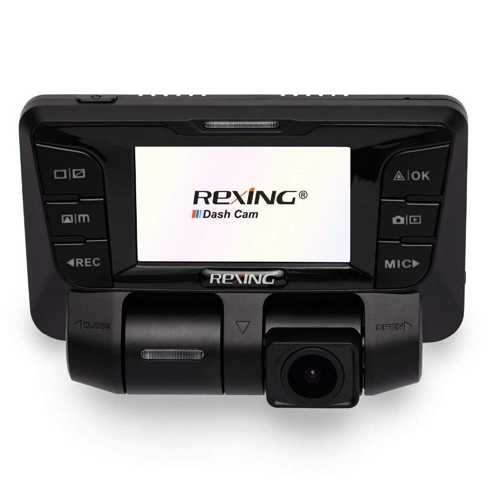 Rexing V2 4 K dvr do carro Da Frente Traseira Dual Channel Full HD 1080 p Traço Cam Wi-Fi Ultra Wide Angle carros Tela de LCD, uber, Táxi