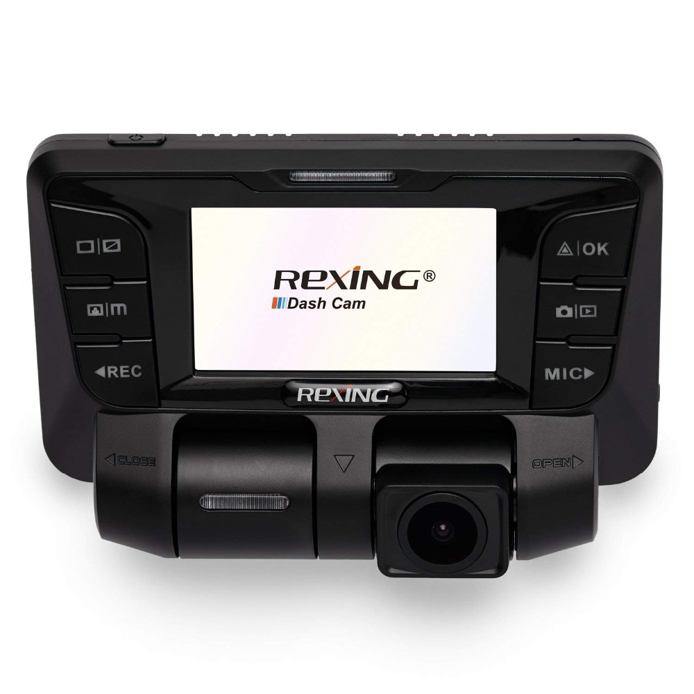 Rexing V2 Frente + Back Câmera Dupla Full HD 1080p Wi-Fi Ultra Wide Angle Tela de LCD Do Carro, uber, Táxi Traço Cam