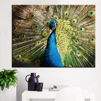 Large Size Printing Oil Painting Peacock Bird Spring Wall Painting POP Art Wall Art Picture For