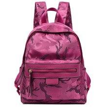 Дизайнер красная Роза женщины рюкзак высокое качество водонепроницаемые туристические рюкзаки женский досуг камуфляж Оксфорд школьная сумка для подростков