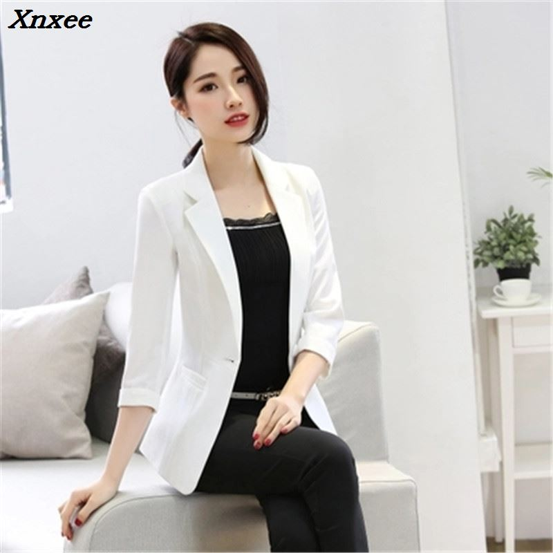 Ladies Blazer Feminino Plus Size 6XL Formal Jacket Women's White Blaser Female Women Suit Office Ladies OL Blazer Formal Xnxee