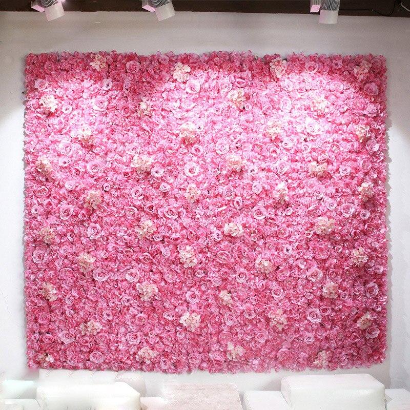 Mariage décoratif soie artificielle Rose hortensia pivoine fleurs mur scène hôtel fête décoration fleurs bricolage toile de fond mur 24 pièces
