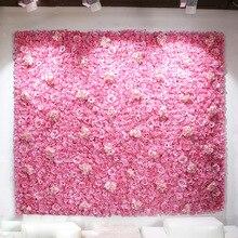 Wedding Decorative Artificial Silk Rose Hydrangea Peony Flowers Wall Stage Hotel Party Decoration DIY Flower Backdrop 24pcs