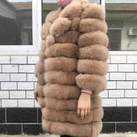 Natural Fox Fur Coat 100% Real Fox Fur Vest Jacket 2019 Women's pretty Warm Coat. Natural Real Fur Coat Real Fur Coats