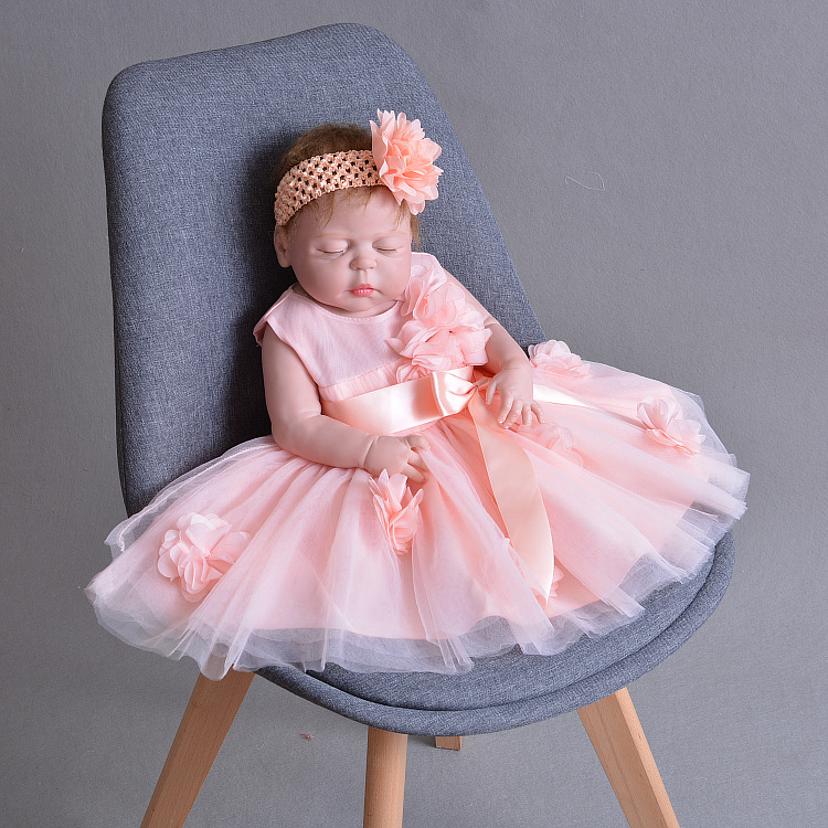 Princess bebes reborn 55cm real full silicone reborn baby girl dolls toys for children gift can bathe boneca reborn Princess bebes reborn 55cm real full silicone reborn baby girl dolls toys for children gift can bathe boneca reborn