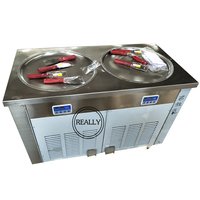 Refrigeração fritada pan dobro da máquina r410 do gelado com compressor alto de qualiy