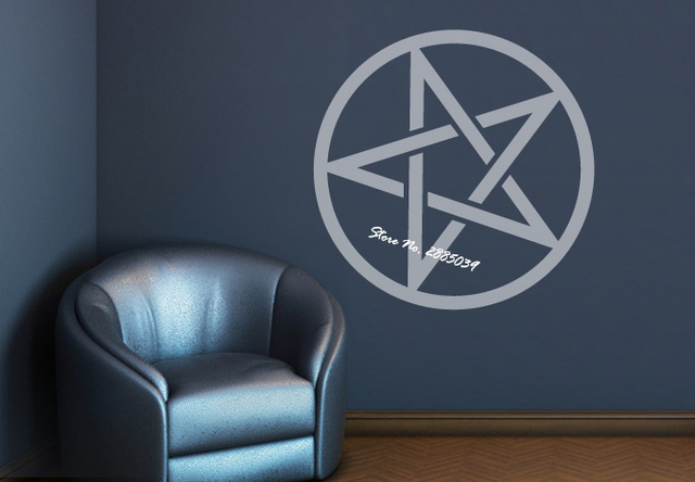 Pentagram Symbol Bedroom Wall Decal Quotes Vinyl Removable Wall Stickers  Home Decor Living Room In Different Colors Decal LA331