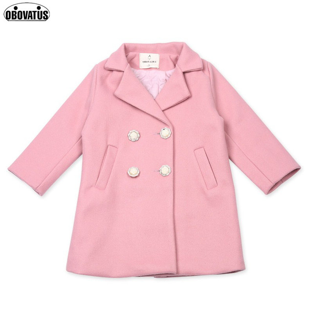 7f2d32efe Fashion Winter Children Wool Blends Jackets   Coats Baby Girl ...