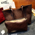 QIAO BAO 2017 women leather handbag fashion women shoulder bag handbag large bag  restoring ancient ways female bag