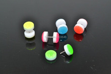 LOT100pcs Body Jewelry -Glow In Dark Neon Color Luminous Fake Ear Plugs Illusion Ear Tapers 00G~10MM(Hong Kong,China)