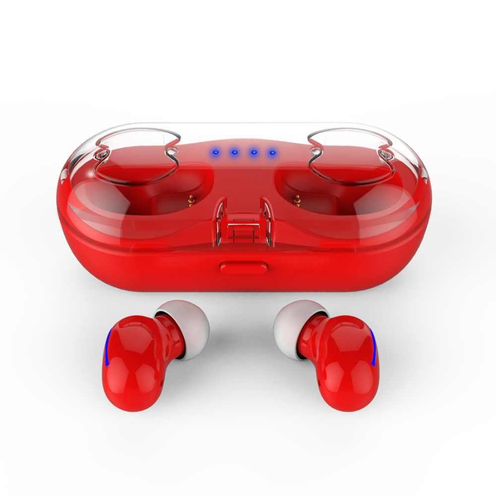 Bluetooth 5.0 słuchawki TWS sylaba HBQ-Q13S bezprzewodowe słuchawki Bluetooth 5 godzin bezobsługowy zestaw słuchawkowy 60mAh słuchawki douszne HBQ-Q13S