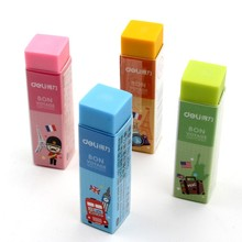 1 Pack 36Pcs Candy Colors Eraser Soft PVC 4B Pencil Erasers For School Office Small Size 60x15x15mm Clear Good to Use Deli 3045