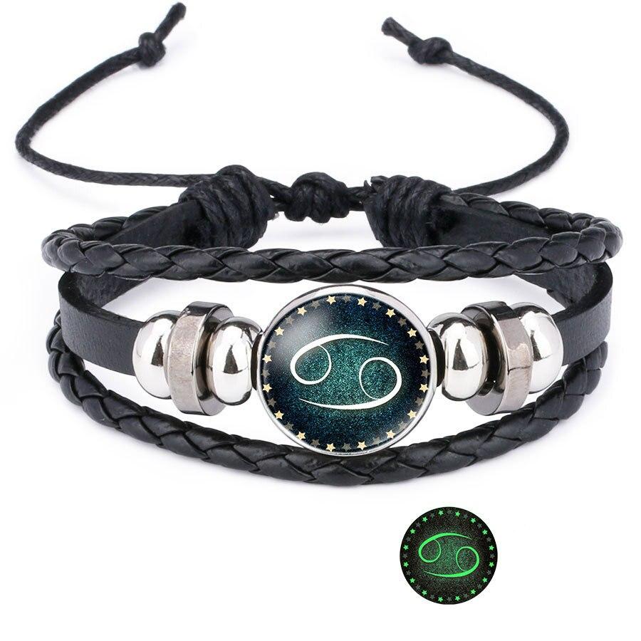 12 Zodiac Signs Handmade Bracelet for Men & Women