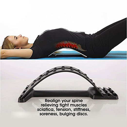 Multi-Level Back Stretcher Posture Corrector Device for Back Pain Relief with Lumbar Support Mate Magic Back Stretching Massage