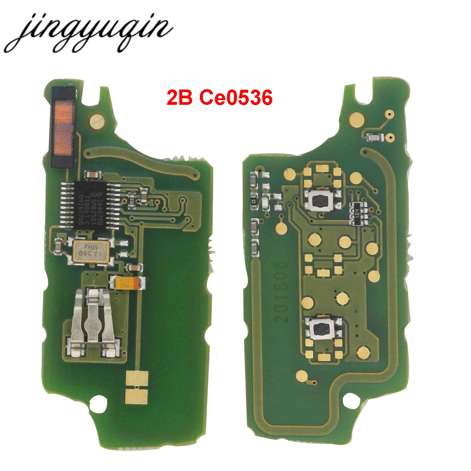 Image 3 - jingyuqin ASK 2B Remote Flip Car Key Electronic Board For Peugeot 307 308 408 407 207 Citroen C2 C3 C4 PICASSO ID46 CE0536/523-in Car Key from Automobiles & Motorcycles