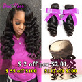 360 Lace Frontal With Bundle Loose Wave Brazilian Virgin Hair With Closure 360 Lace Frontal Loose Wave With Bundles Human Hair