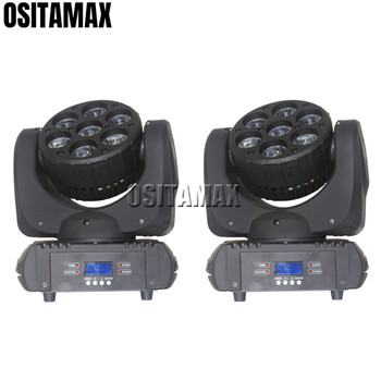 OSITAMAX-A 2 stks/partij RGBW 7x12 w 4IN1 Beam Light Super Helderheid DJ Apparatuur Podium Moving Heads