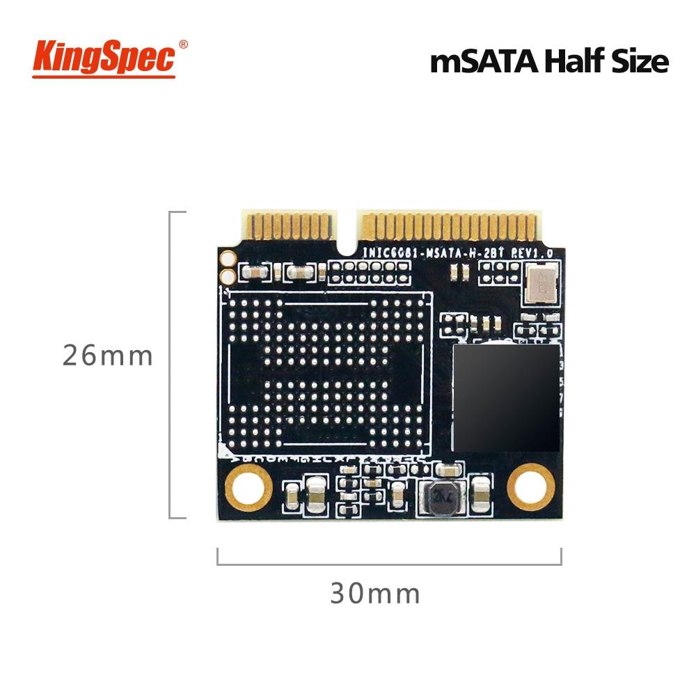 Kingspec SSD mSATA demi-taille 1 to SSD 500GB Mini disque dur SATA disque dur interne pour ASUS Zenboo DELL VOSTRO hdd