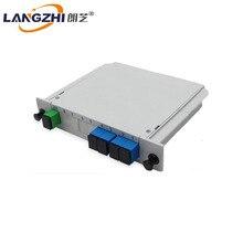 SC UPC PLC 1X4 splitter Fiber Optische Doos FTTH Splitter box met Planar golfgeleider type Gratis verz