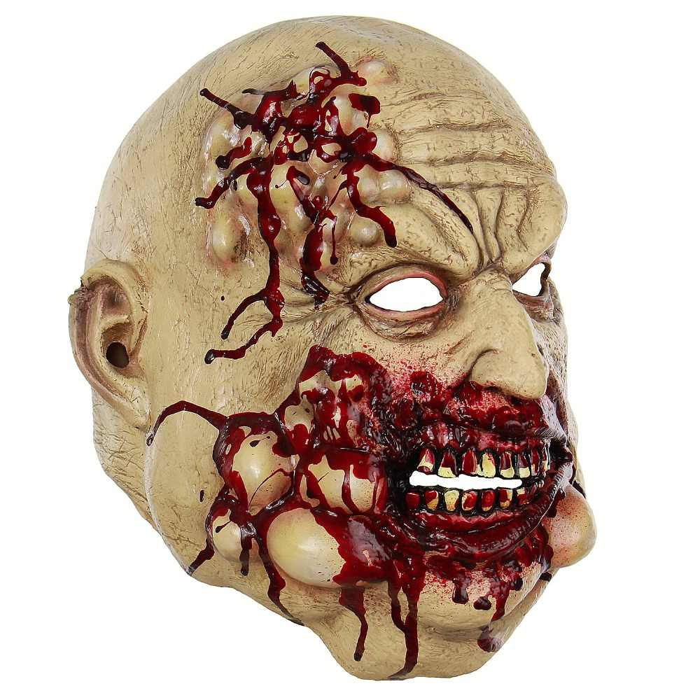 Horror Mask Full Head Melting Zombie Bloody Disgusting Bloody Undead Horror Adult Latex Scary Insane Halloween Scary Mask