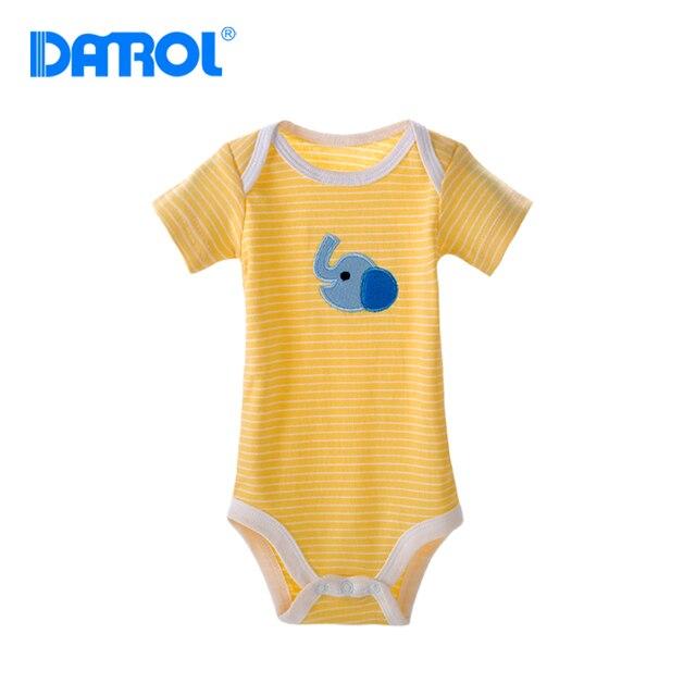 Danrol 5 шт./лот детские боди baby boy девушка одежда one piece комбинезон печатных новорожденный тело воротник боди dr0012