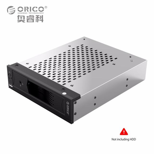 Unidade de Disco Rígido interna Titular em 5.25 a 3.5 em SATA Conversor HDD Rack Móvel para 5.25 CD-ROM Ferramenta Slot Livre Inoxidável aço