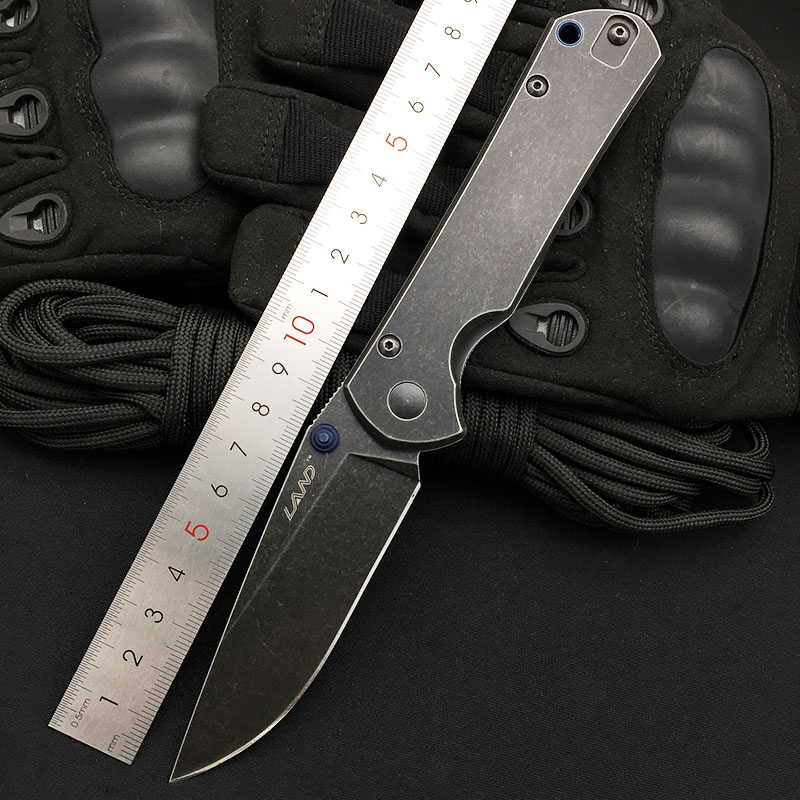 Land 913 Folding Knife 12C27 Blade Outdoor Camping survival Pocket Knife Super Military Kitchen Tool Top