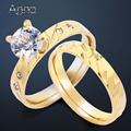 A&N Stainless Steel Bridal Wedding Band Pair Rings For Women Ladies Wholesale Fashion Engagement Wedding Anniversary Ring Sets