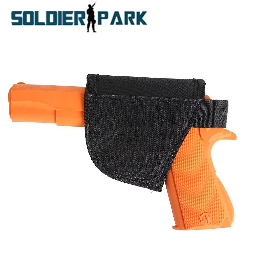 Outdoor Army Military Hunting Gun Hook Loop Holster Handgun Pistol Revolver Self-stick Holder Pouch to Tactical Vest Belt Bag