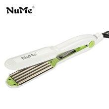 Для завивки волос профессиональные щипцы Керамика гофрированные бигуди щипцы для завивки волос Styler Электрический гофрирования волна Инструменты для укладки