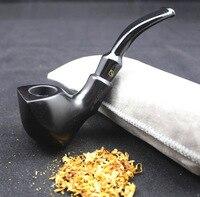 16 инструментов ручной работы эбенового дерева Семена табака курительная трубка комплект Прочный Деревянный трубы + чехол + держатель + 10 шт. ...