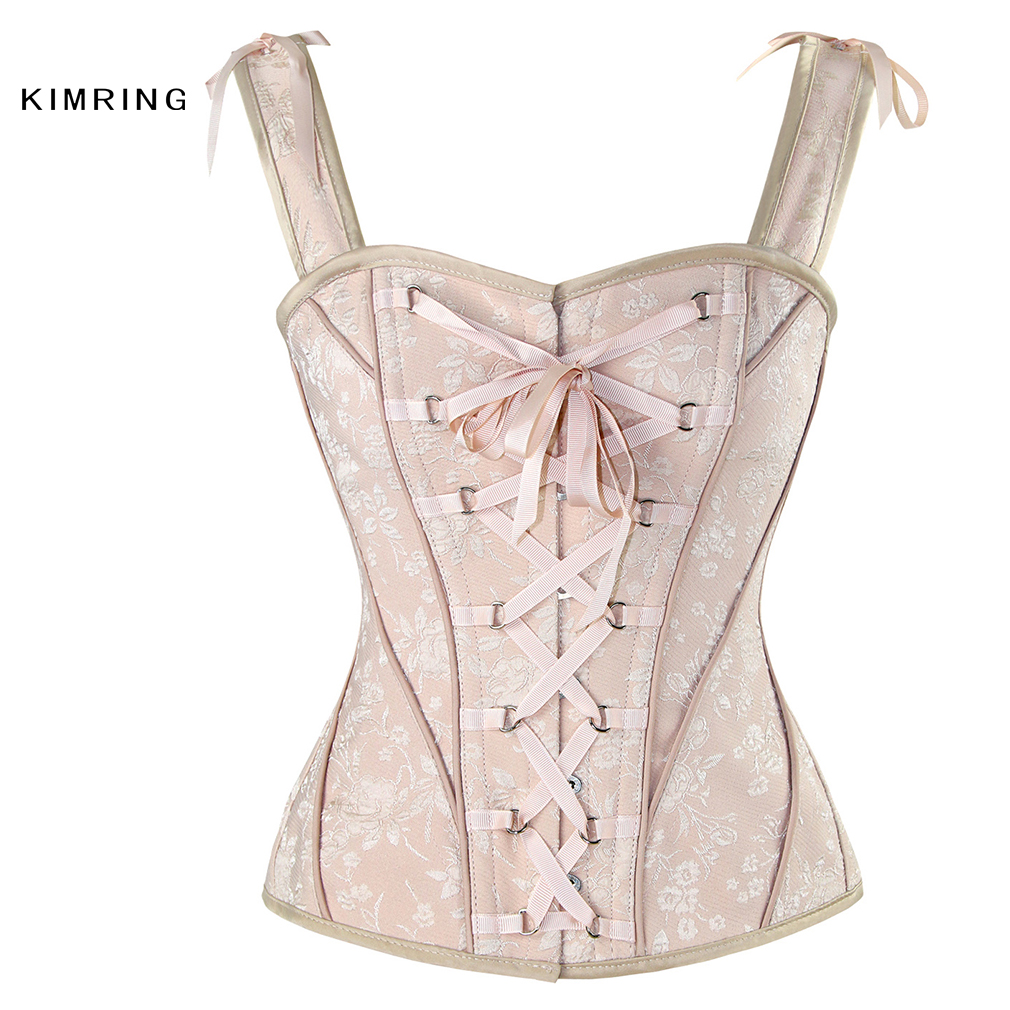 3fe7d72754 Kimring Women Steampunk Steel Boned Corsets Sexy Gothic Vest Corset Waist  Trainer Corsets and Bustiers Burlesque Corselet-in Bustiers   Corsets from  ...