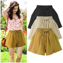 Summer Chiffon Plus Size Shorts Women Loose Clothes High Waisted Shorts For Women Black Shorts Korean Home Shorts Female 2019