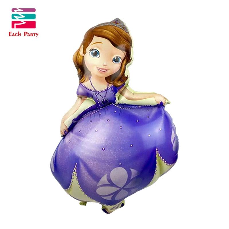 5pcs/lot Princess sofia birthday Balloons suit helium balloon princesa sofia festa decoracao Kids Inflatable party decorations