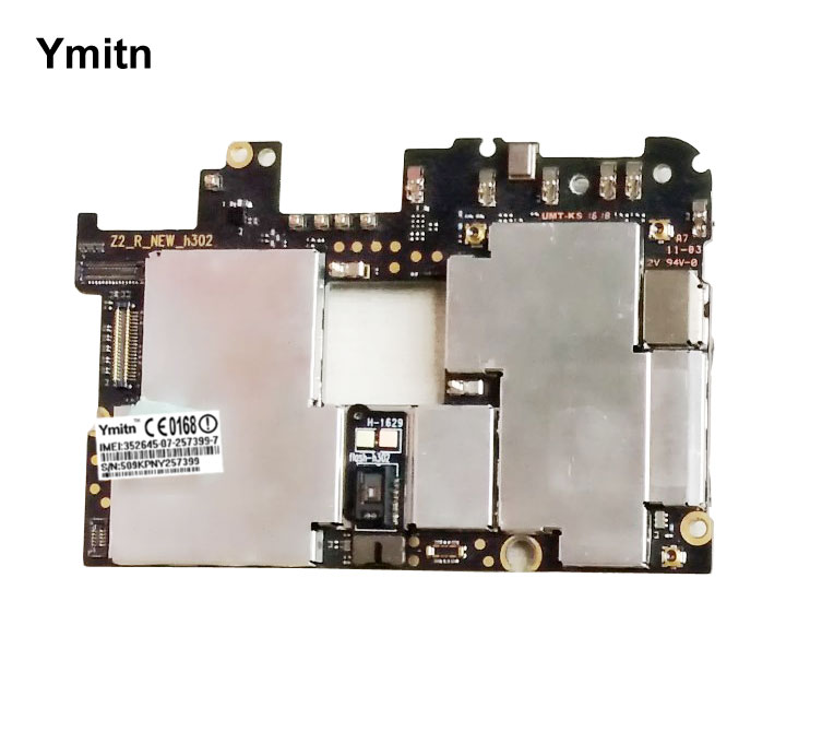 Ymitn Mobile débloqué électronique carte mère carte mère Circuits câble flexible pour Lenovo zuk z2 pro z2pro 6 + 128GB