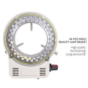 Image 3 - Foxanon светодиодная кольцевая осветительная лампа AC 110V 220V Регулируемый микроскоп Высокое качество DC 12V стерео микроскопические светильники