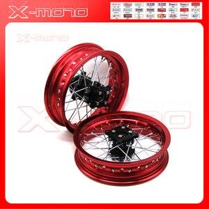 Диски для велосипеда ямы 12 мм отверстие 3,00x12 дюймов и 2,50-12 дюймов задние и передние колеса whit CNC hub dirt bike CRF Kayo BSE Apollo part