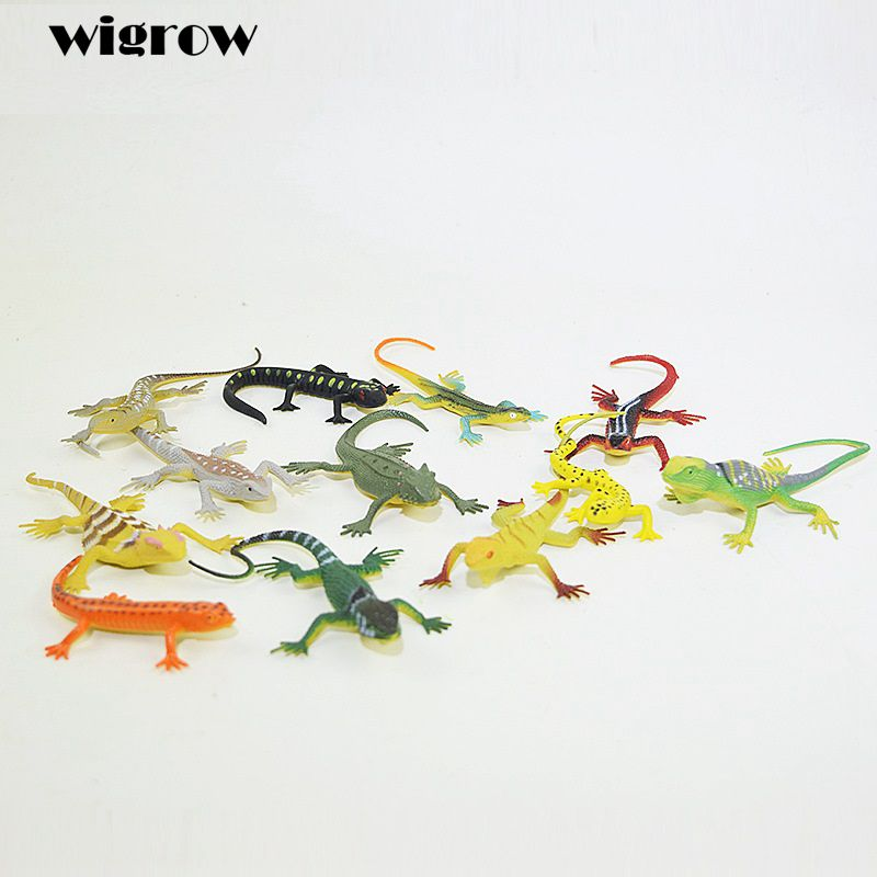 Random Delivery Simulation 15cm Soft Reptile Lizards Prank Toy Gags Practical Jokes Funny Trick Toy for Kids Party Mischief Toys image
