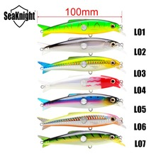 SK007 Minnow Fishing Lure 7 PCS / Lot 16g 10 cm 0.6-1.2 M Hard Bait with Feather  Hooks Floating Fishing Lure Together