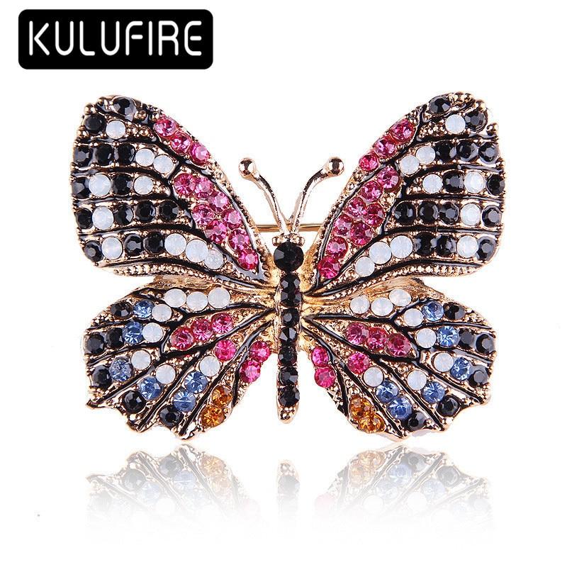 ULUFIRE Cute butterfly Brooches for women cadeau noel juego de tronos broschen broches animales mujer buho regalos de navidad