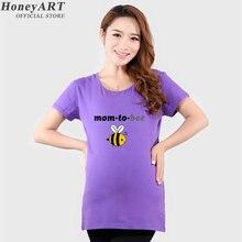 2016 Maternity Clothing New Summer Women Pregnant Shirt Funny Maternity Shirts Top Short Sleeve Tshirt DD089