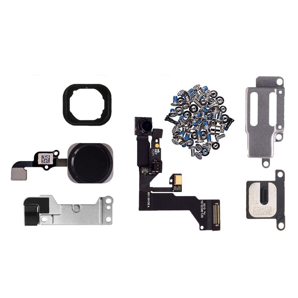 7pcs/set Full Set lcd parts For iPhone 6s 6s Plus Front Camera Ear Speaker Plate home button flex cable with bracket full screws image