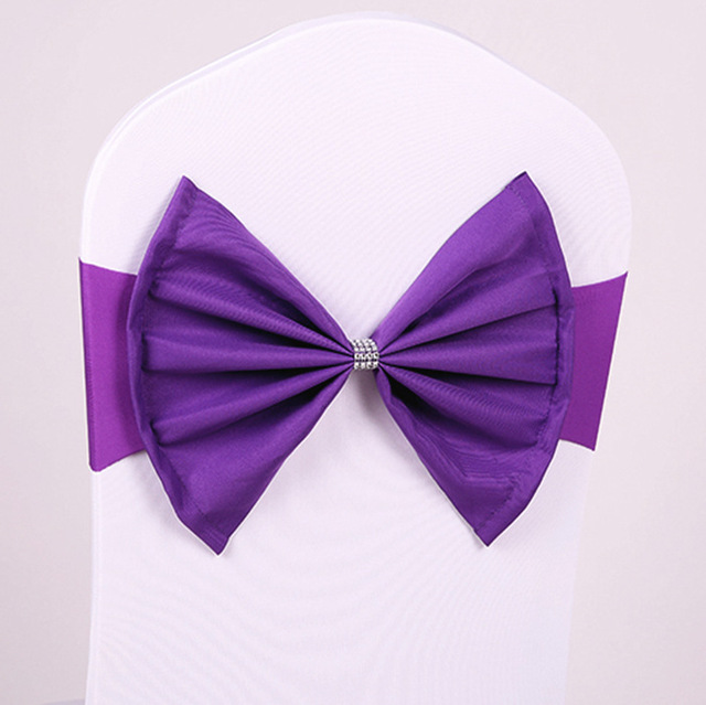 chair cover bows. 5Pcs Elastic Spandex Chair Cover Bows For Wedding Stretch Sash Banquet Decoration Party