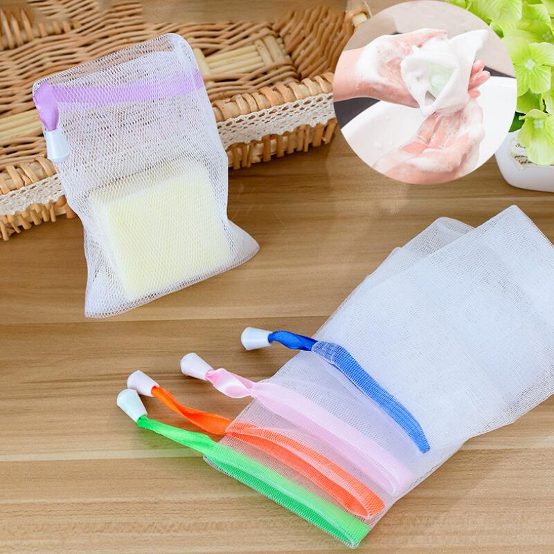 Hanging Soap Mesh Bag Mesh Net For Foaming Cleaning Bath Soap Net Easy Bubble Bags Bath Shower LX7162