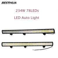 2 Pcs 234W 78 X 3W Car LED Light Bar as Work Light 23400LM Cold White Spot Light for Boating Hunting Fishing 2 Piece Worklight