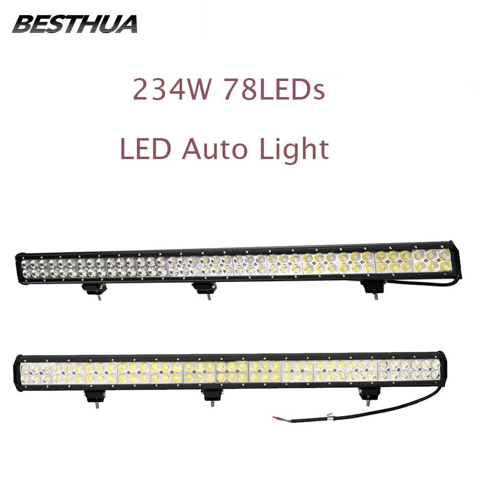 2 pcs 234 w 78 w * 3 Voiture LED Lumière Bar comme Travail Lumière 23400LM Blanc Froid Spot Light pour Nautique Chasse Pêche 2 pièce Lampe de Travail J20