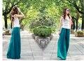 2 pcs verão novo tamanho grande moda feminina solta cintura culottes de ouro calças chiffon, Largas calças perna calças