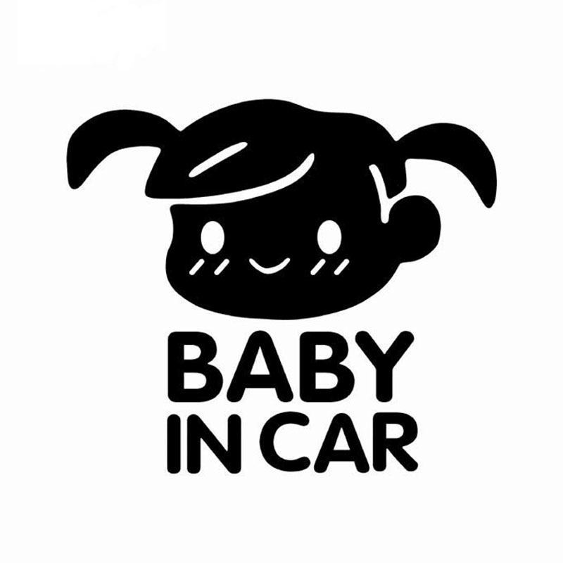 n1113CM BABY IN CAR Warning Mark Baby In The Car Baby Car Sticker Stickers Decals LaserBlackSilver (3)