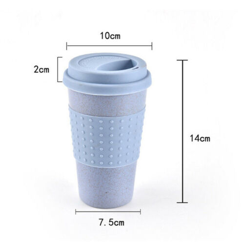 Outdoor Travel Coffee Cup Collapsible Reusable Silicone Water Bottle Mug 300 ml 3 Colors Wheat Straw